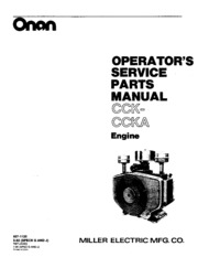 927 1120 Onan CCK CCKA (Miller spec G J) Industrial Engine