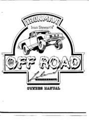 Arcade Game Manual: Ironman Ivan Stewart's Super Off Road