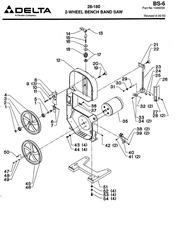 Delta Band Saw 28-180 Diagram & Parts List : Free Download