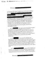 Counterterrorism Detention and Interrogation Activities