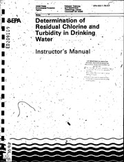 ERIC ED209109: Determination of Residual Chlorine and