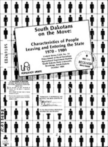 ERIC ED269189: South Dakotans on the Move: Characteristics