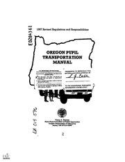 ERIC ED284361: Oregon Pupil Transportation Manual. 1987