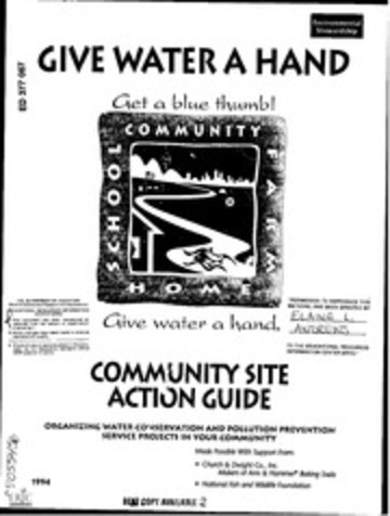 ERIC ED377067: Give Water a Hand. Community Site Action