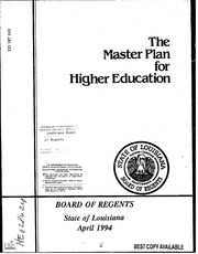 ERIC ED086043: Report of the Joint Committee on the Master