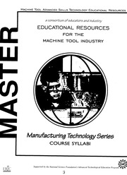 ERIC ED422491: Manufacturing Technology Series