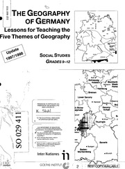 ERIC ED473430: The Geography of Germany: Lessons for
