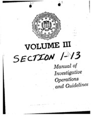 FBI Manual of Investigative Operations and Guidelines