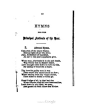 Annus sanctus : hymns of the church for the ecclesiastical
