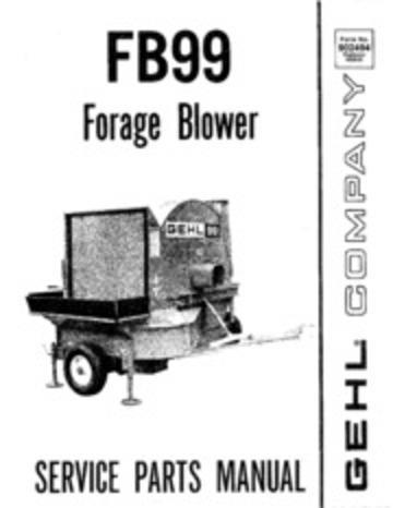 GEHL_FB99_Forage_Blower_Service_Parts_Manual_ : GEHL