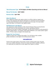 HP 1345A Digital Display Operating and Service Manual
