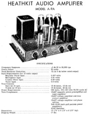 Heathkit AA 100 Stereo Amplifier (schematic) : Free