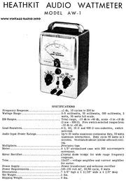 Heathkit HM 2102 VHF Wattmeter (manual) : Free Download