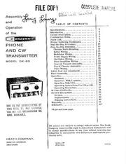 Heathkit DX 60 Amateur Transmitter (manual) : Free