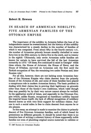 In Search of Armenian Nobility: Five Armenian Families of