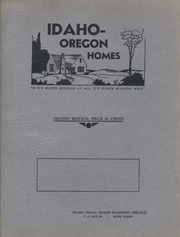 Idaho-Oregon homes, 2nd ed. : Idaho Small Homes Planning