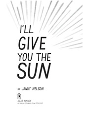 I Ll Give You The Sun Pdf : Free Download, Borrow, and