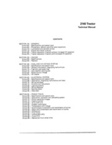 John_Deere_2140_Tractor_Technical_Manual_ : John Deere
