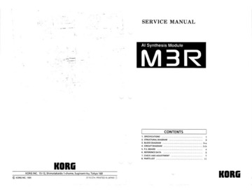 Korg M3R Service Manual : Korg : Free Download, Borrow