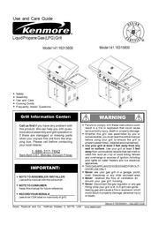 Kenmore 141.16315800 Gas Grill User Manual : Kenmore