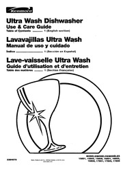 Kenmore ULTRA WASH 15831 Dishwasher User Manual : Kenmore