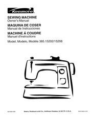 Kenmore 15358 Sewing Machine User Manual : Kenmore : Free