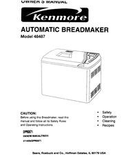 Kenmore 48487 Bread Maker User Manual : Kenmore : Free