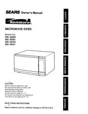 Kenmore 721.63102 Microwave Oven User Manual : Kenmore