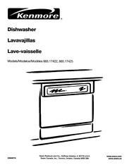 Kenmore 665.15622 Dishwasher User Manual : Kenmore : Free
