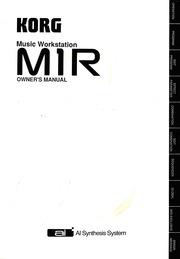 Korg M1R 1988 Owners Manual(600dpi) : Korg : Free Download