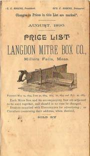 Langdon Miter Box Parts