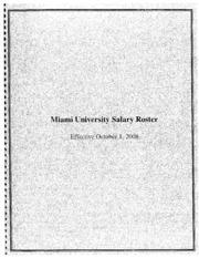 Miami University Salary Roster October 2008 : Miami