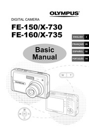 Olympus FE-190 X-750 Digital Camera User Manual : Olympus