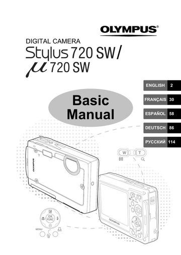 Olympus u 720 SW Digital Camera User Manual : Olympus