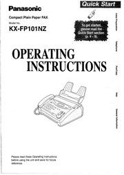 Panasonic KX-FPC141 Fax Machine User Manual : Panasonic