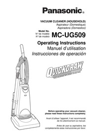 Panasonic MC-V5210 Vacuum Cleaner User Manual : Panasonic