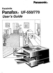 Panasonic Panafax UF-750 Fax Machine User Manual