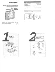 Panasonic RQ-SX88V Cassette Player User Manual : Panasonic