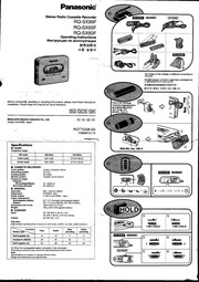 Panasonic RN-502 Microcassette Recorder User Manual