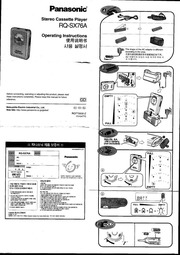 Panasonic Shockwave Cassette Player Manual