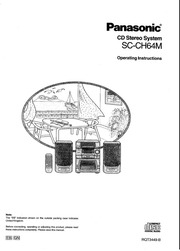 Panasonic SC-CH72 Stereo System User Manual : Panasonic