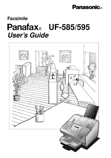 Panasonic UF-585 595 Fax Machine User Manual : Panasonic
