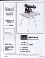 Sears_10_Inch_Radial_Saw_Owners_Manual_113_19771_ : Sears