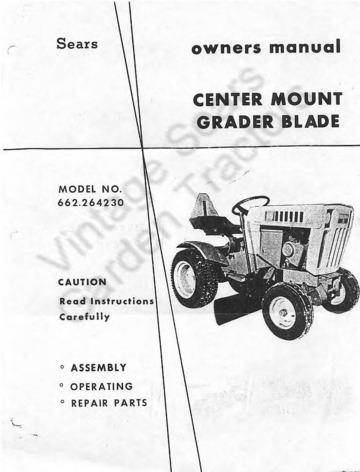 Sears_Center_Mount_Grader_Blade_264230_Owners_Manual