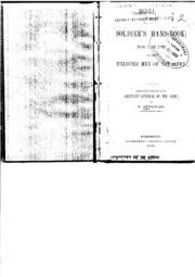 Soldier's Handbook, 1884 : Military : Free Download