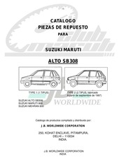 Suzuki Maruti Parts Catalogue M 800 And MPI : Free