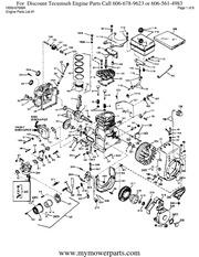 Tecumseh Engine Parts Manual HS 50 67008 A : ariens