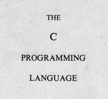 The C Programming Language First Edition : Dennis Ritchie