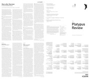 The Platypus Review issue #3 March 2008 : Platypus