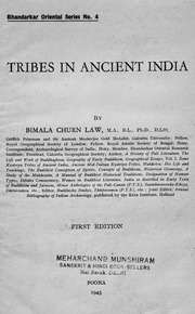 Tribes In Ancient India : Bimala Churn Law : Free Download